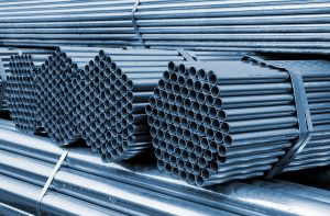 Stack of steel tubes