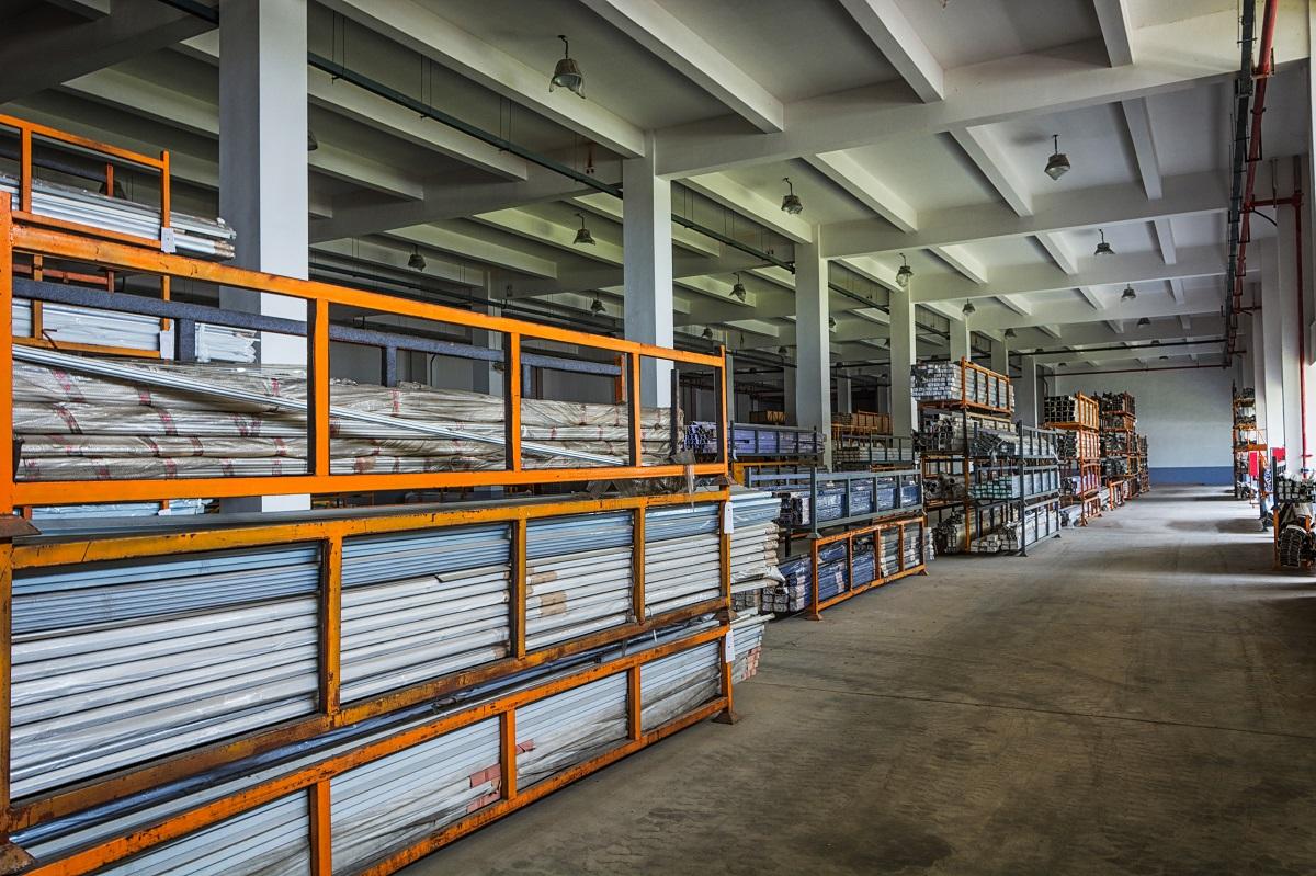 Steel storage warehouse