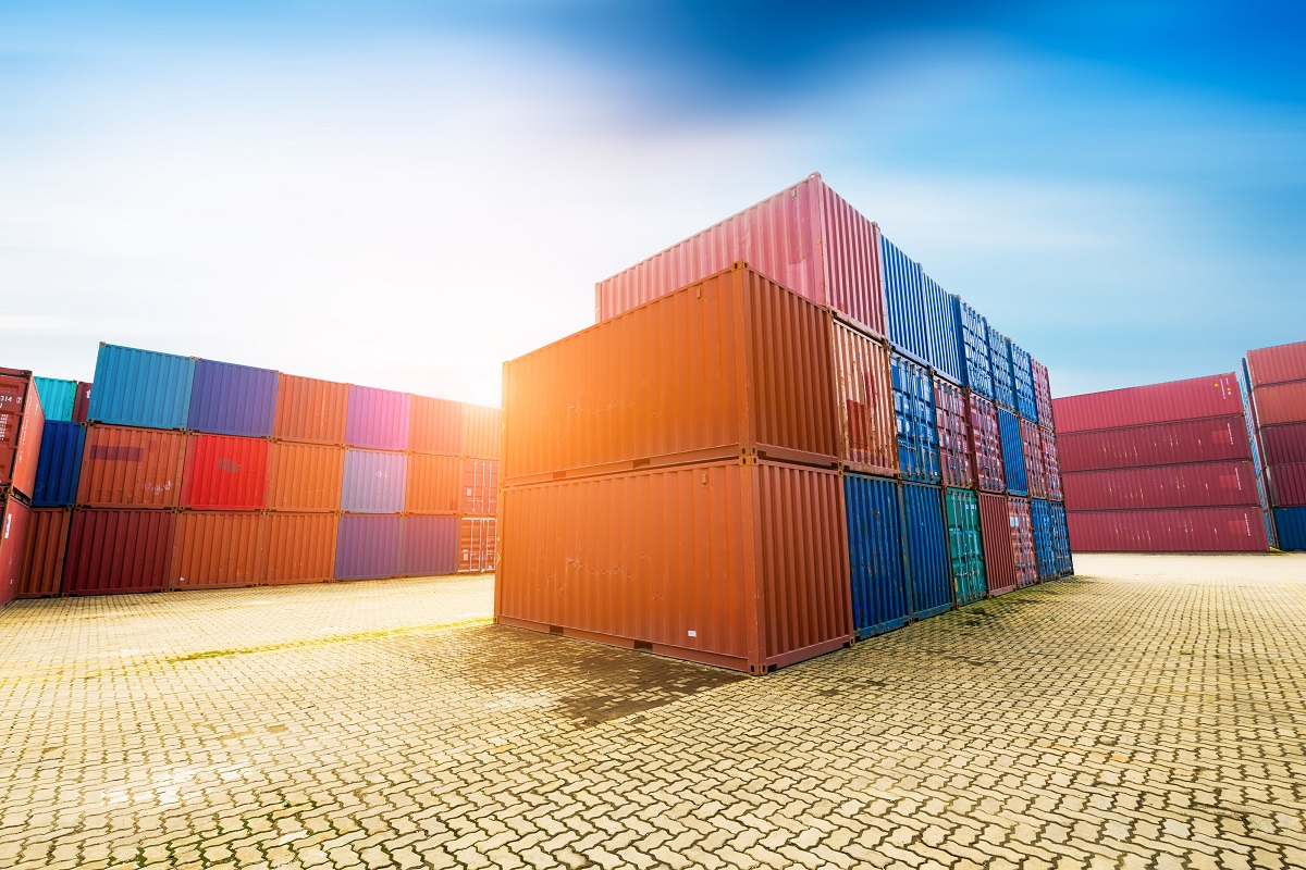 Transport containers with steel inside
