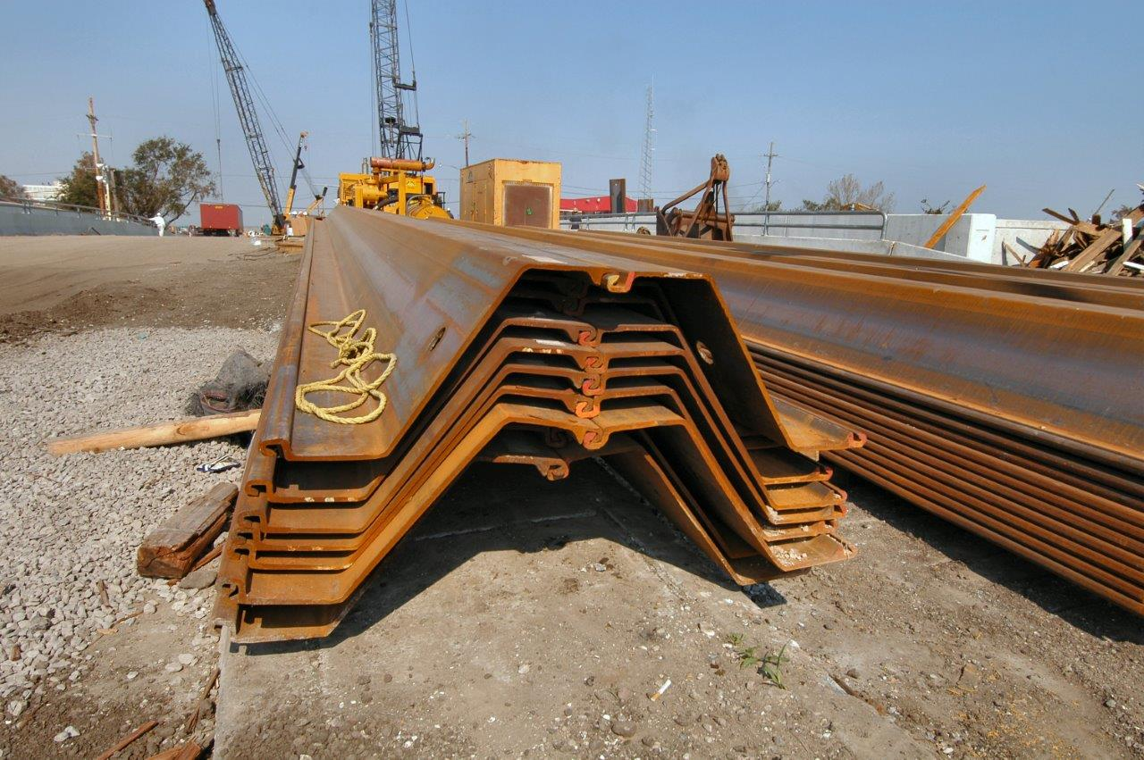 The different types of sheet piles