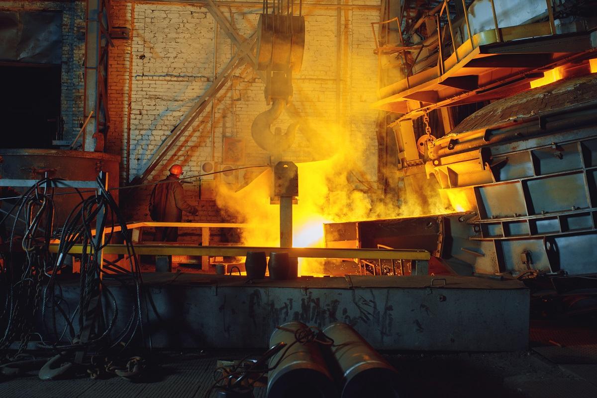 Steel factory, metallurgical or metalworking mill