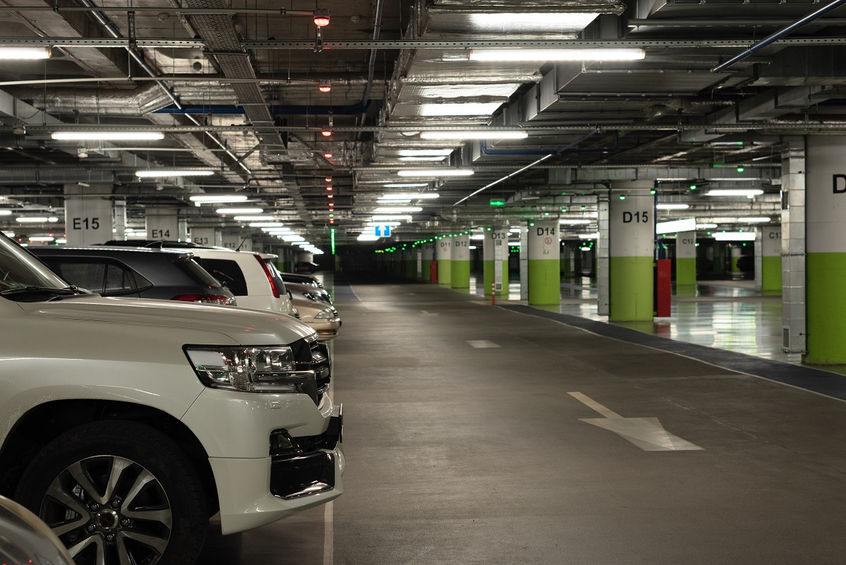 Some cars at the underground parking during coronavirus pandemic